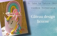 tutoriel gâteau licorne/ unicorn cake tutorial / طريقة عمل حلوى اليونكورن