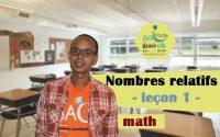 2ème collège / leçon 1 : nombres relatifs