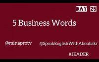 Anglais d'affaires ,leçon 25