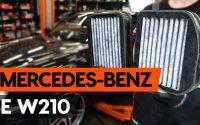 Comment remplacer un filtre d'habitacle sur MERCEDES-BENZ E (W210) [TUTORIEL AUTODOC]