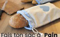 DIY - Coudre un Sac à Pain avec fermeture à cordons   Tutoriel couture facile