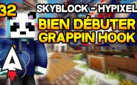 Hypixel Skyblock - Bien débuter #32 - Boost ses moves - Grappin Hook! - Tutoriel, Guide   Alvegar