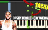 Jason Derulo - Savage Love | Vidéo Piano Tutoriel Facile Instrumental (Piano Facile France)