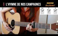 L'hymne de nos campagnes Guitare sans barrés ! Tutoriel Guitare