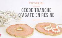 TUTORIEL | Géode tranche d'Agate en résine avec moule