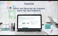 Tutoriel Chorus Pro V2 - Gérer les factures de travaux pour les fournisseurs