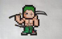 {Tutoriel} Comment dessiner Roronoa Zoro en pixels.#3