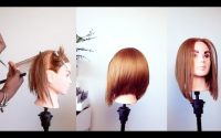Tutoriel, carré plongeant dégradé /layered bob haircut tutorial