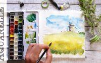 🎨 Tutoriel d'aquarelle pour débutants 🏠