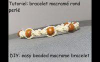 tutoriel: bracelet macramé rond perlé (DIY: easy beaded macrame bracelet)