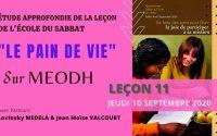 Etude approfondie de la leçon de l'Ecole du Sabbat avec des moments de débats sur MEODH