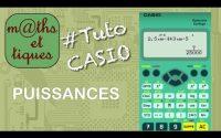 Calculer des puissances (notation scientifique) - Tutoriel CASIO Collège