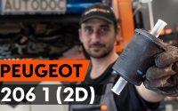 Changer un filtre à carburant sur PEUGEOT 206 1 (2D) [TUTORIEL AUTODOC]