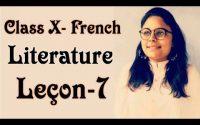 Class X - Literature : Leçon 7