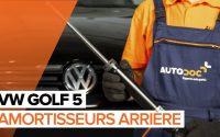 Comment remplacer des amortisseurs arrière sur une VW GOLF 5 TUTORIEL | AUTODOC