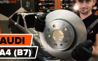 Comment remplacer des disques de frein arrière sur AUDI A4 (B7) [TUTORIEL AUTODOC]