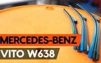 Comment remplacer des essuie-glaces sur MERCEDES-BENZ VITO 1 (W638) [TUTORIEL AUTODOC]