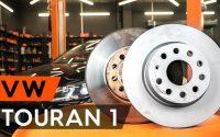 Comment remplacer disques de frein avant une  VW TOURAN 1 (1T3) [TUTORIEL AUTODOC]