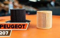 Comment remplacer filtre à huile et huile moteur sur PEUGEOT 207 [TUTORIEL AUTODOC]