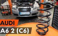 Comment remplacer ressort de suspension avant sur AUDI A6 2 (C6) [TUTORIEL AUTODOC]
