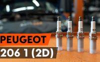 Comment remplacer un bougie d'allumage sur PEUGEOT 206 1 (2D) [TUTORIEL AUTODOC]