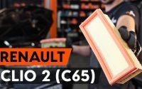 Comment remplacer un filtre à air sur RENAULT CLIO 2 (C65) [TUTORIEL AUTODOC]