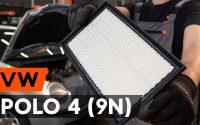 Comment remplacer un filtre à air sur VW POLO 4 (9N) [TUTORIEL AUTODOC]
