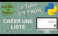 Créer une liste - Tutoriel Python #6/7