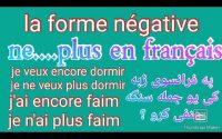 Leçon 139 : LA NÉGATION en Français NE...PLUS - French Grammar & pronunciation