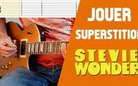 STEVIE WONDER - Superstition (LEÇON GUITARE + TABS + BACKING TRACK)