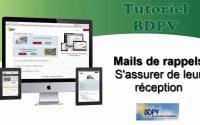 Tutoriel BDPV -  Rappel production photovoltaîque : S'assurer de la réception de l'email