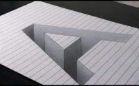 """{Tutoriel} Comment dessiner la lettre """"A"""" en 3D ( illusion d'optique).#3"""