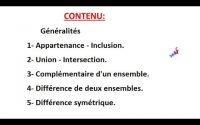 """""""ENSEMBLES ET APPLICATIONS"""" - Leçon: 01 - Mathématiques #math"""