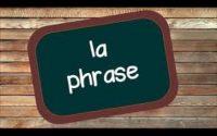 """2éme leçon """"autour de la phrase"""""""