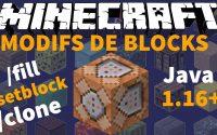 🔷🔸 3 Commandes pour Modifier des Blocks ! 🔹🔶 Tutoriel Command Block FR - Minecraft Java 1.16