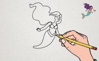 Apprendre à dessiner La Petite Sirène | Tutoriel Ariel