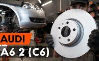 Comment remplacer des disques de frein avant sur AUDI A6 (C6) [TUTORIEL AUTODOC]