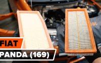 Comment remplacer un filtre à air sur FIAT PANDA 2 (169) [TUTORIEL AUTODOC]
