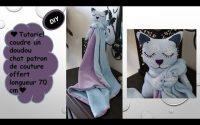 Coudre un doudou chaton en tissu patron de couture offert DIY tutoriel loisir créatif Anna couture