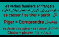 Leçon 160 : Langage Familier, Argot en Français - Learn French in Pashto - Usefull French verbs