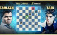 Magnus Carlsen donne une leçon à Tari