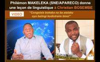 P.MAKELEKA (SNE/APARECO) donne une leçon de linguistique à Christian BOSEMBE