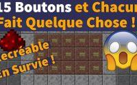 😱 Placer 15 BOUTONS FONCTIONNELS Côte-à-Côte en SURVIE ?? Tutoriel Redstone - Minecraft Java 1.16