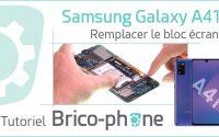 Tutoriel Samsung Galaxy A41 : changer le bloc écran (vitre + AMOLED pré-montés sur châssis)