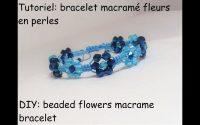 Tutoriel: bracelet macramé avec fleurs en perles (DIY: beaded flowers macrame bracelet)