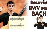 Un premier morceau pour aborder BACH - Bourrée TUTORIEL à la guitare