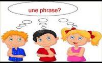 la phrase: leçon pour CE1 et CE2