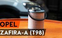 Changer un filtre à carburant sur OPEL ZAFIRA-A (T98) [TUTORIEL AUTODOC]