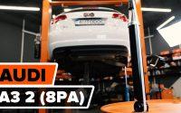 Comment remplacer un amortisseur arrière sur AUDI A3 2 (8PA) [TUTORIEL AUTODOC]