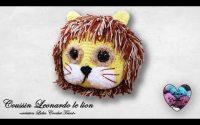 """Coussin Leonardo le lion tutoriel crochet """"Lidia Crochet Tricot"""""""
